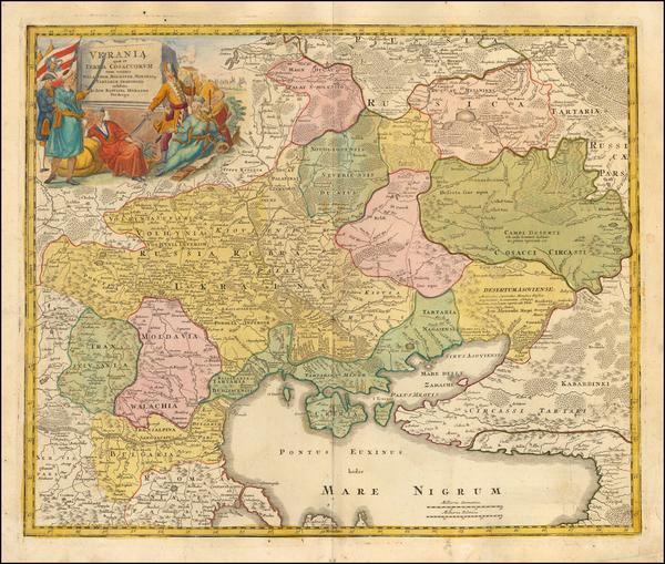 28-Russia and Ukraine Map By Johann Baptist Homann