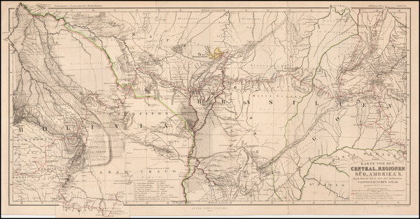 19-Brazil and Paraguay & Bolivia Map By Augustus Herman Petermann