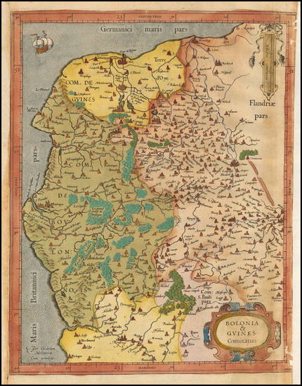 70-France Map By  Gerard Mercator