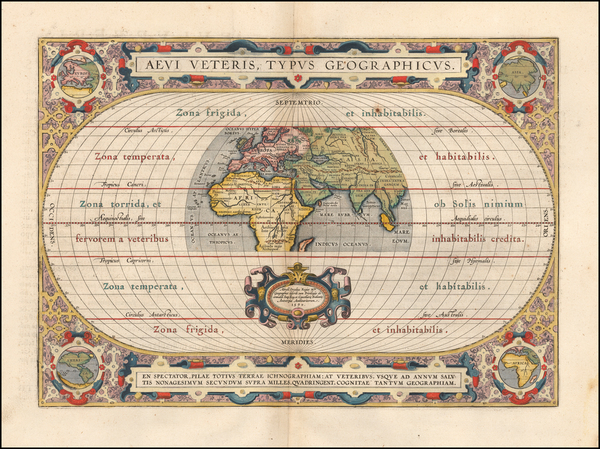 93-World Map By Abraham Ortelius