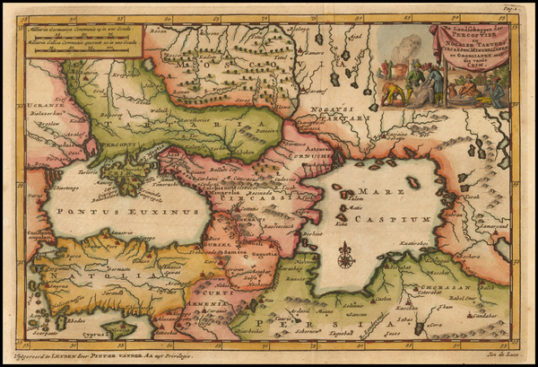 98-Russia, Ukraine and Central Asia & Caucasus Map By Pieter van der Aa