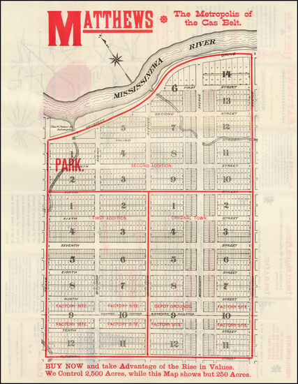 28-Indiana Map By Manufactuers Gas Land Improvement Company