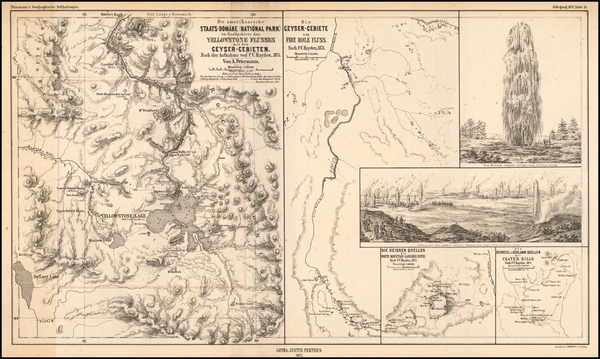 36-Idaho and Wyoming Map By F.V. Hayden / Augustus Herman Petermann