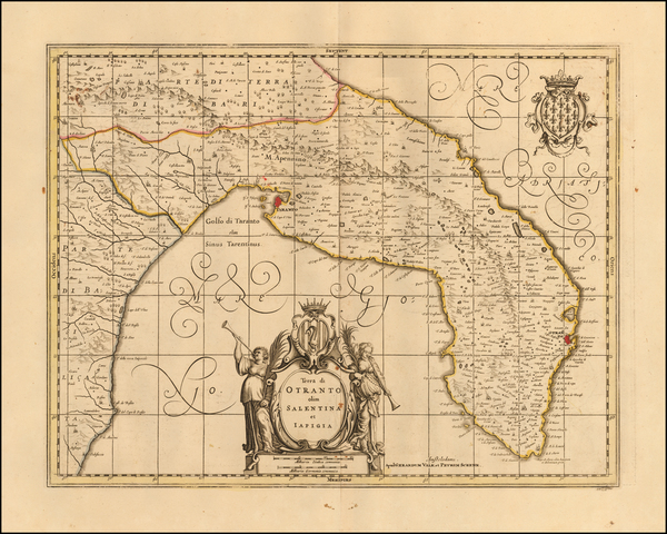 38-Southern Italy Map By Peter Schenk  &  Gerard Valk