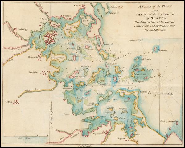 44-Massachusetts Map By Gentleman's Magazine