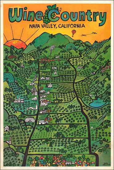 58-California Map By Earl Thollander