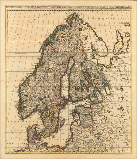 17-Baltic Countries, Scandinavia and Finland Map By Gerard & Leonard Valk