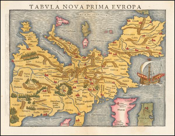 75-Europe Map By Sebastian Munster