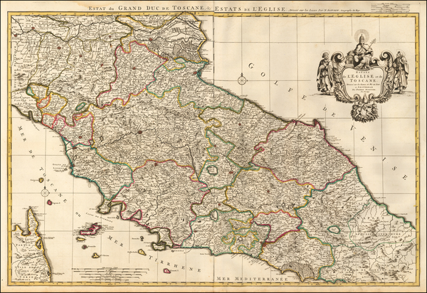 54-Northern Italy and Southern Italy Map By Pieter Mortier
