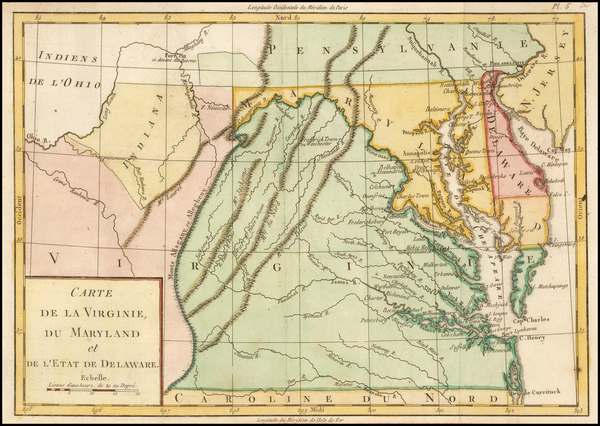 Mid-Atlantic and Virginia Map By Michel Rene Hilliard d'Auberteuil