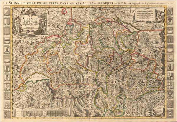 92-Switzerland Map By Pieter Mortier