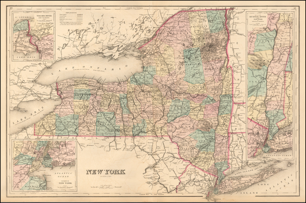 43-New York State Map By O.W. Gray