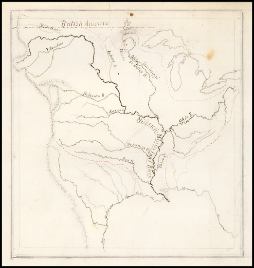 70-United States, South, Midwest, Plains, Missouri and Rocky Mountains Map By Theodore Sedgwick Fa