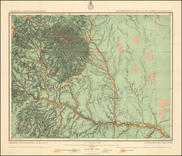 Colorado and Colorado Map By George M. Wheeler