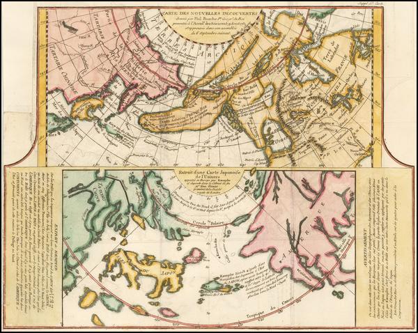 21-Alaska, Japan and Russia in Asia Map By Denis Diderot / Didier Robert de Vaugondy