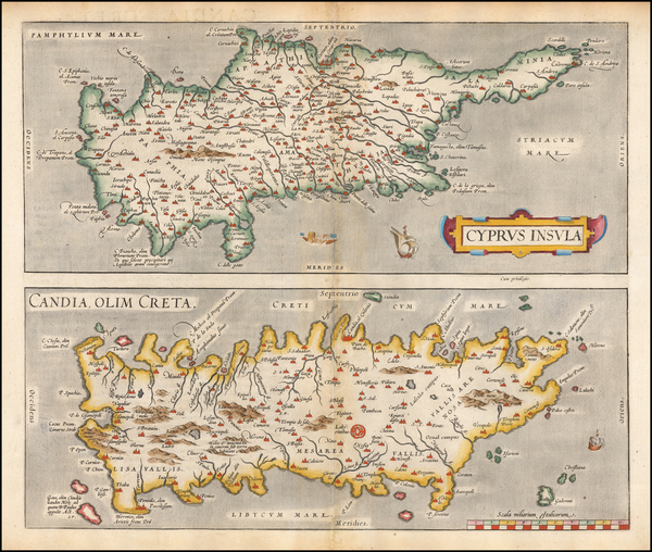 80-Greece and Cyprus Map By Abraham Ortelius