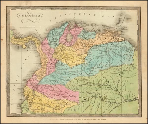 35-Colombia, Peru & Ecuador and Venezuela Map By David Hugh Burr
