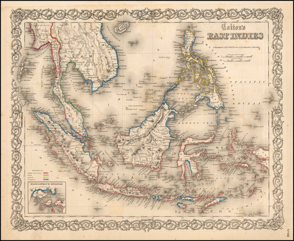 33-Southeast Asia, Philippines and Other Pacific Islands Map By G.W.  & C.B. Colton