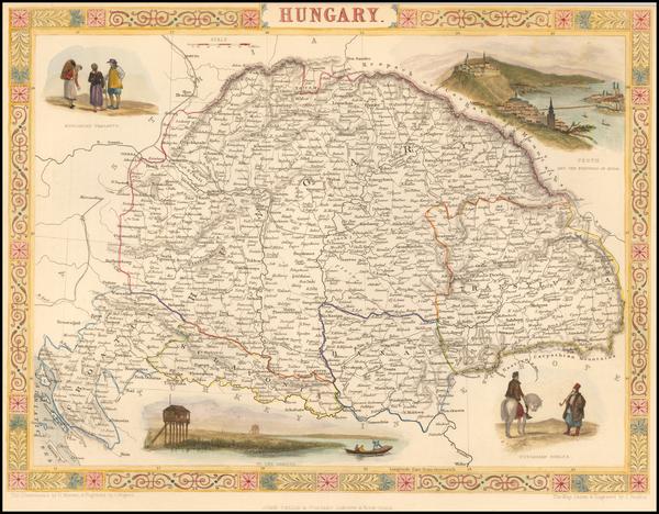 75-Hungary, Romania and Balkans Map By John Tallis