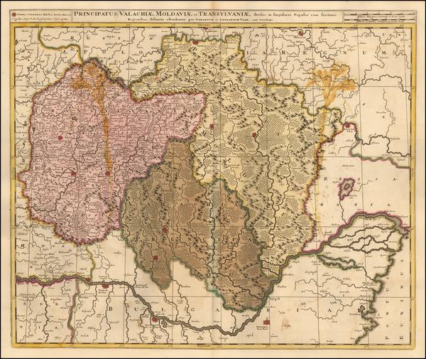 36-Romania and Bulgaria Map By Gerard & Leonard Valk