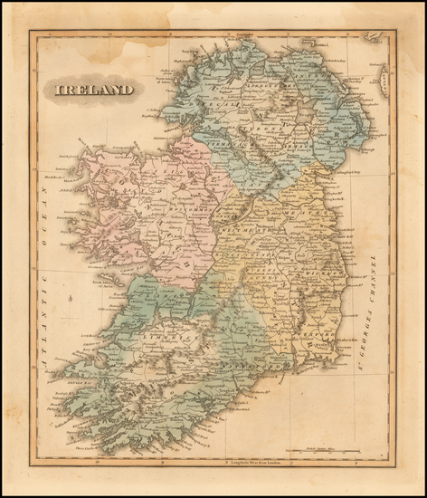 Ireland Map By Fielding Lucas Jr.