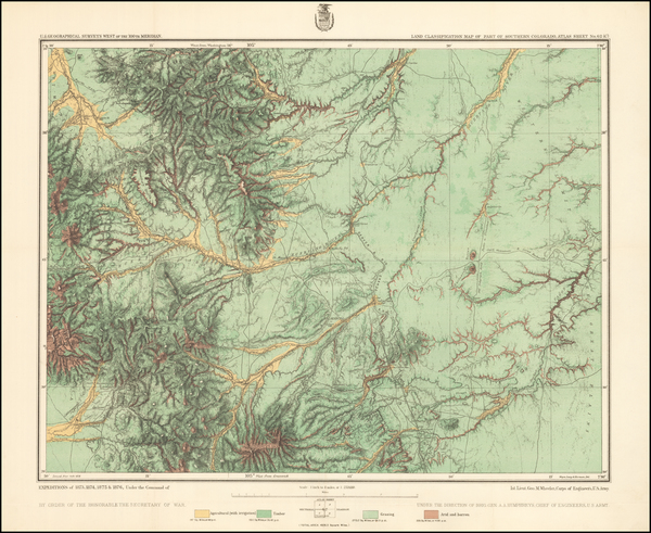 3-Colorado and Colorado Map By George M. Wheeler