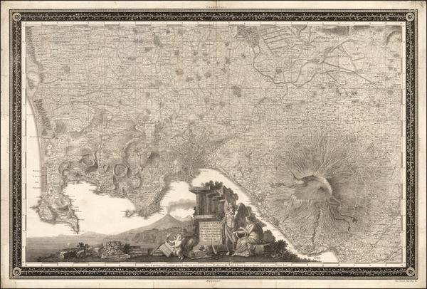 75-Southern Italy Map By Giovanni Antonio Rizzi-Zannoni