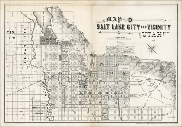 9-Utah and Utah Map By Browne & Brooks