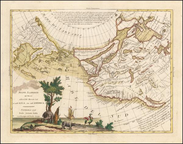 14-Polar Maps, Pacific Northwest, Alaska, North America, Canada and Russia in Asia Map By Antonio