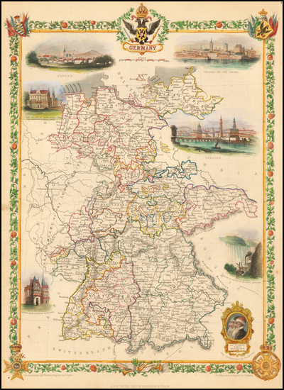 52-Germany Map By John Tallis