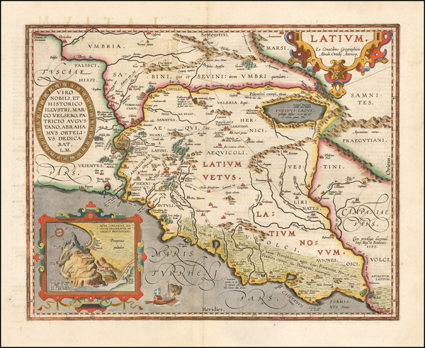 4-Northern Italy and Rome Map By Abraham Ortelius