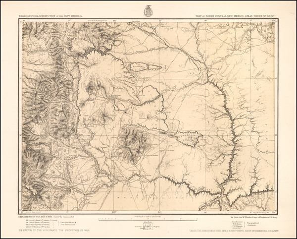 New Mexico Map By George M. Wheeler