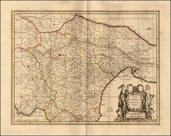 46-Southern Italy Map By Gerard Valk / Leonard Schenk