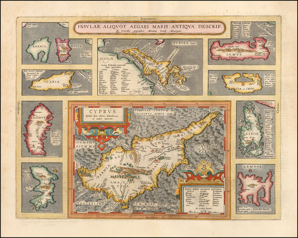 26-Greece and Cyprus Map By Abraham Ortelius