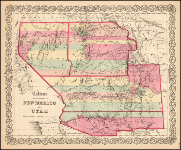 85-Southwest, Arizona, Colorado, Utah, Nevada, New Mexico, Rocky Mountains, Colorado and Utah Map
