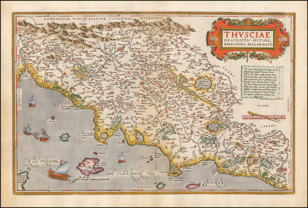 14-Italy Map By Abraham Ortelius
