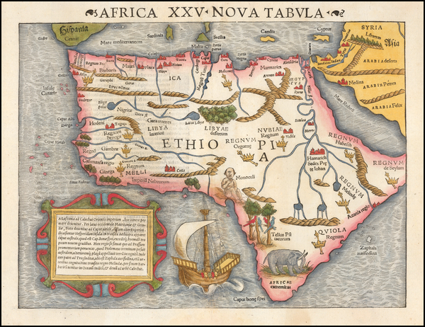 64-Africa Map By Sebastian Munster