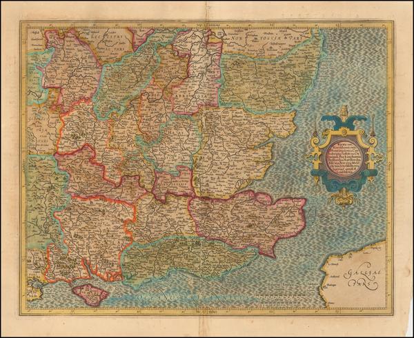 6-British Counties Map By Jodocus Hondius / Gerhard Mercator