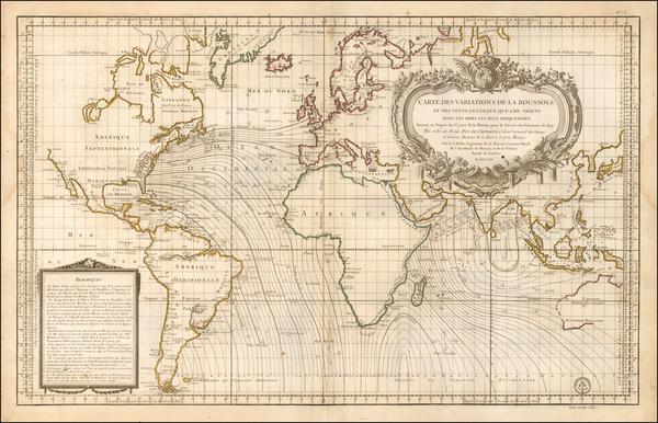 World Map By Depot de la Marine