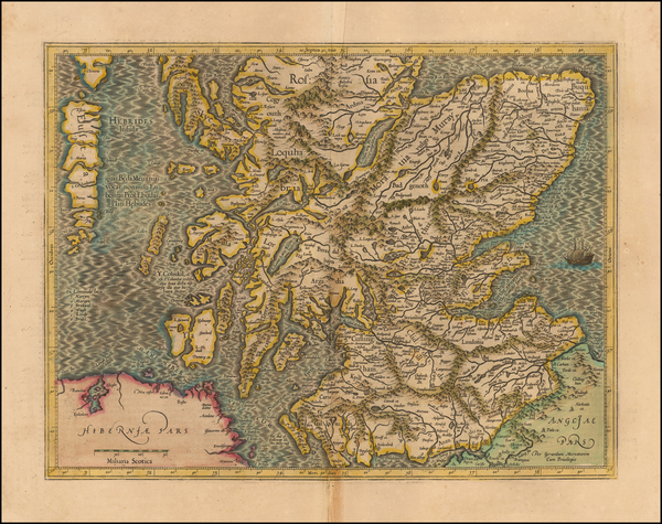 23-Scotland Map By  Gerard Mercator