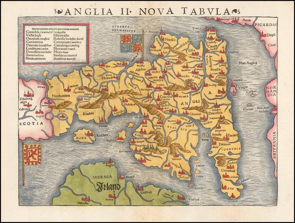 50-British Isles Map By Sebastian Munster