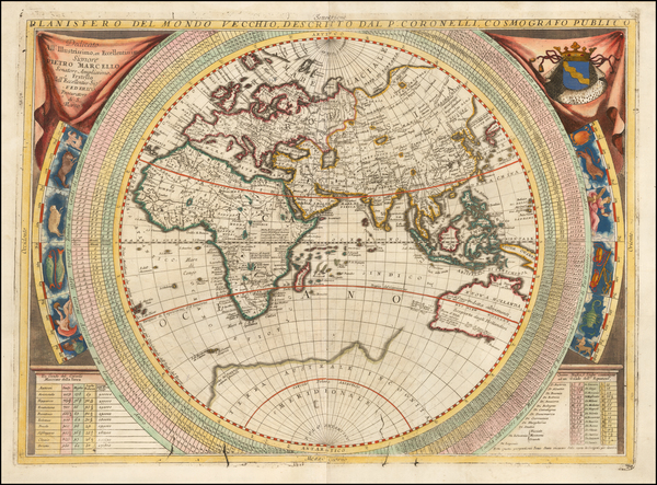 16-Eastern Hemisphere, Indian Ocean, Asia, Africa, Pacific and Australia Map By Vincenzo Maria Cor