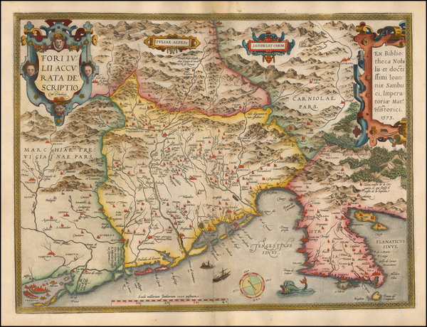0-Balkans and Northern Italy Map By Abraham Ortelius