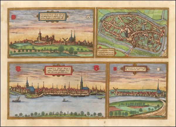 91-Germany Map By Georg Braun  &  Frans Hogenberg