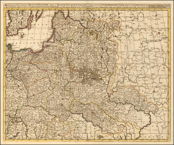 43-Poland and Ukraine Map By Gerard & Leonard Valk