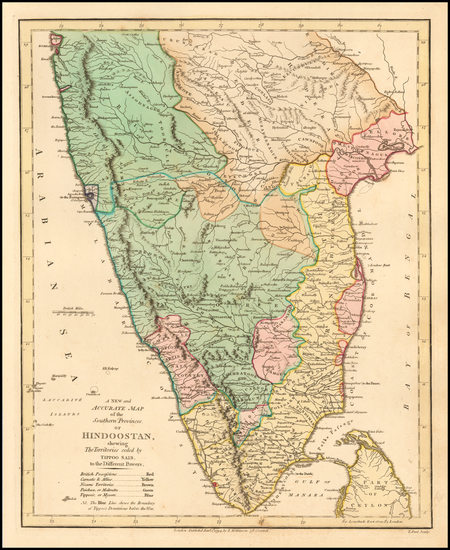 85-India Map By Robert Wilkinson
