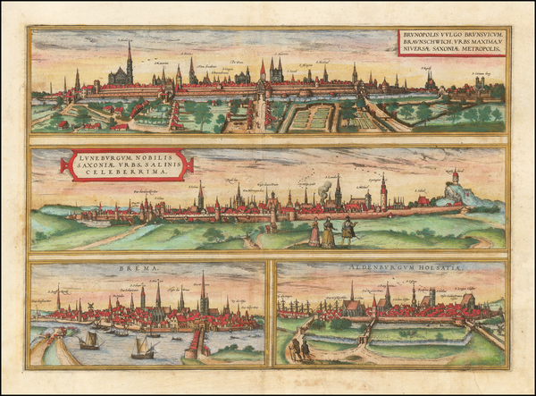 90-Germany Map By Georg Braun  &  Frans Hogenberg