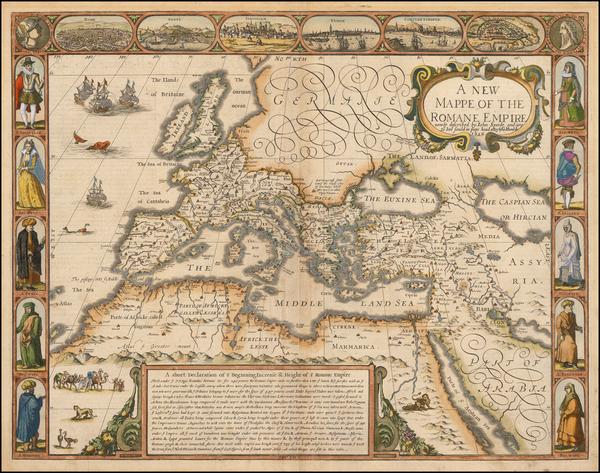 Europe, Turkey and Mediterranean Map By John Speed