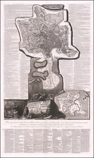 35-Rome Map By Giovanni Battista Piranesi
