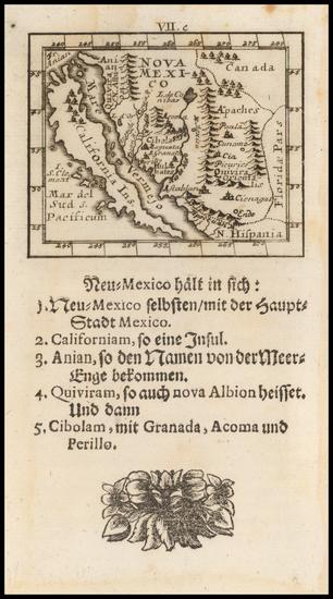 49-Baja California, California and California as an Island Map By Johann Ulrich Muller